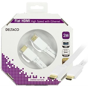HDMI-kabel, w/Ethernet, 19-pin ha-ha, 4K