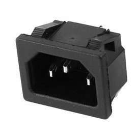 AC 250V 10A 3 P Terminals Black