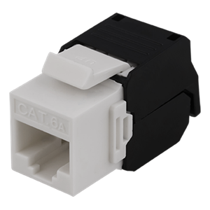 UTP Cat6a keystone connector, unshielded, 22-26AWG