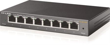 TP-LINK Easy Smart Switch,  Layer 2, 8-ports