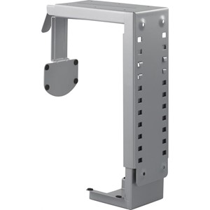 PC holder for montering under bord/vägg-montering, silver