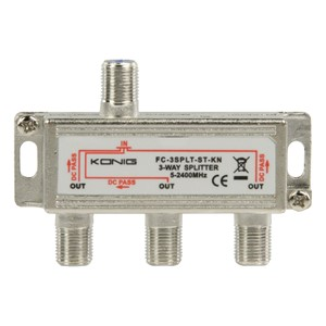 Satellitt F Splitter 10.5 dB / 5-2400 MHz - 3 utg