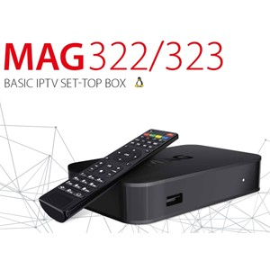 MAG 322 Full HD IPTV HEVC H.265 Multimedia Player